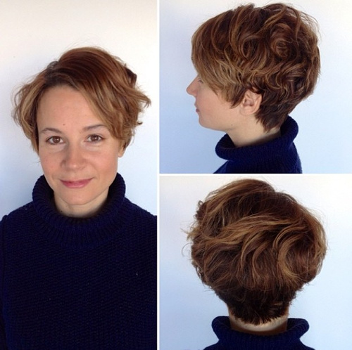 long pixie for curly hair