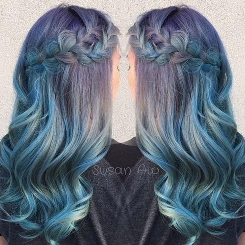 lavender into blue ombre