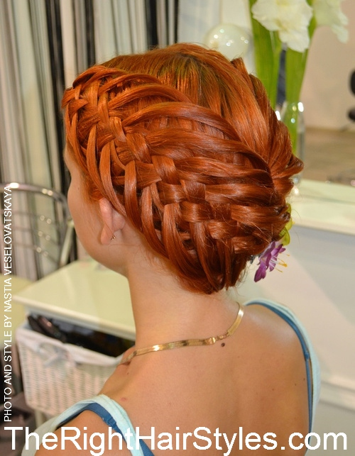 creative braided updo