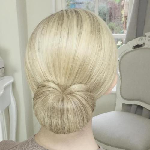 Sleek Formal Low Bun