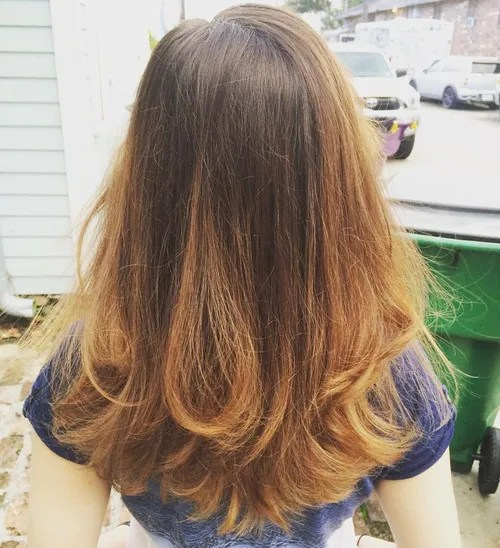 v shape hair