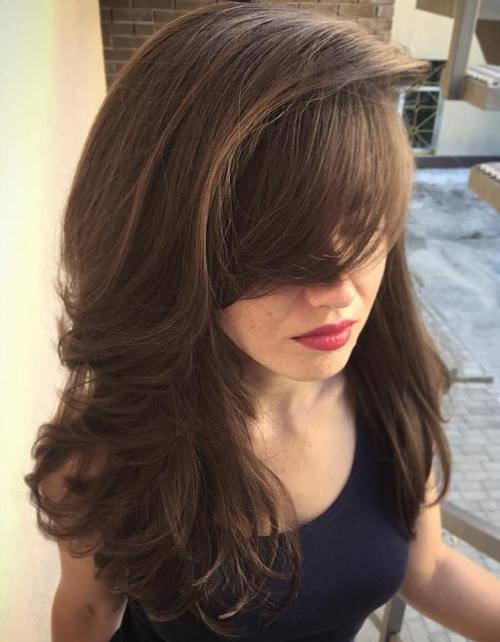 Long Layered Chestnut Brown Hairstyle
