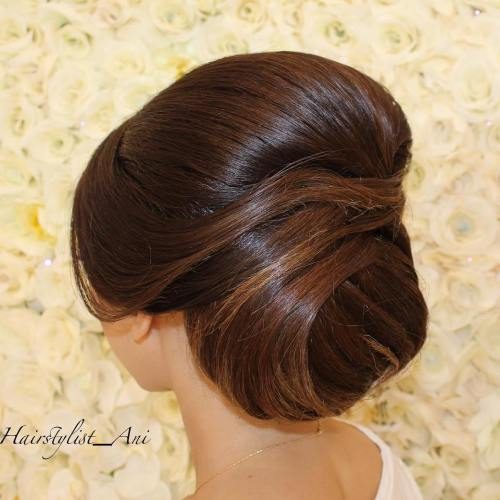 Sleek Twisted Chignon