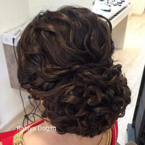 Curly Chignon For Long Hair