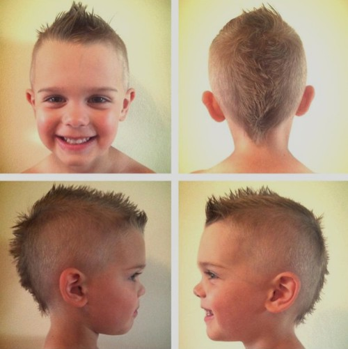little boys' short mohawk