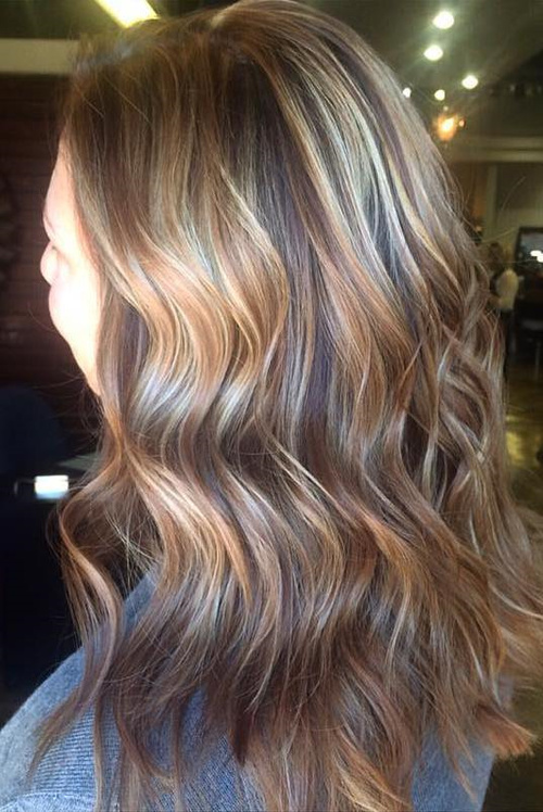Dark Brown Hair With Blonde And Light Brown Highlights 7000 Hair