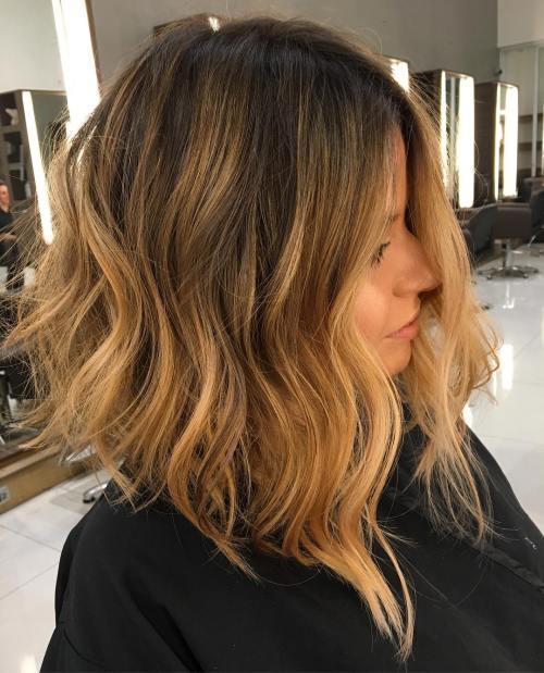 golden brown ombre hair