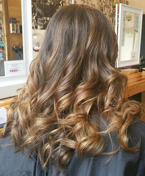 golden brown ombre hair
