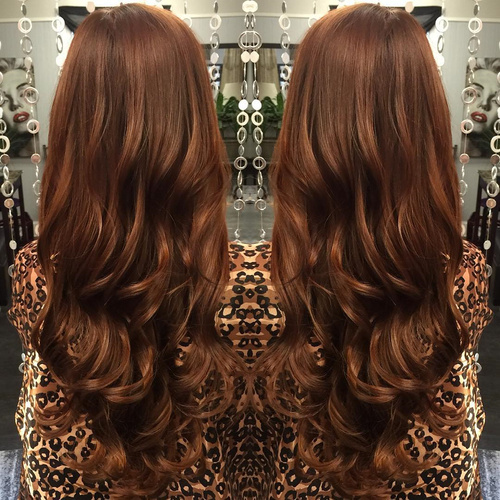 long chestnut brown hair