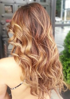 light golden brown balayage