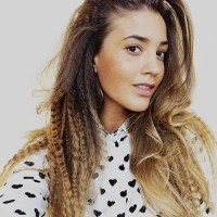 crimped hairstyle for long hair