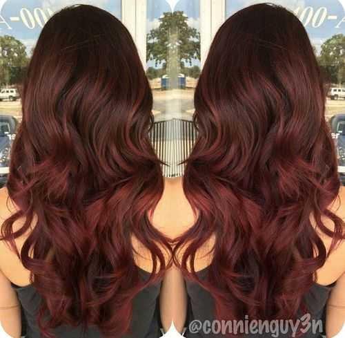 Dark Auburn Brown On Black Hair Images & Pictures - Becuo