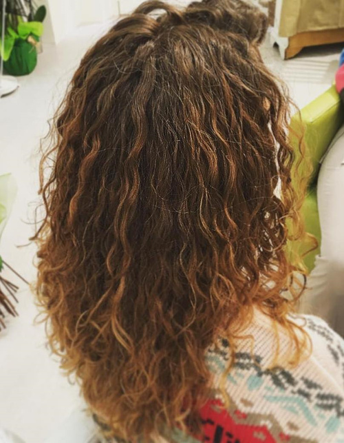 very loose perm waves