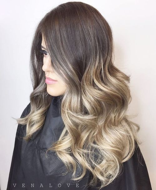 brown to dirty blonde ombre