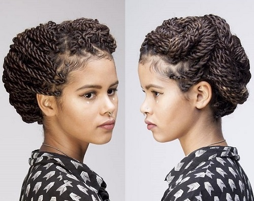 senegalese twist updo hairstyles : senegalese twists updo hairstyles