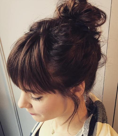 Simple Messy Bun Updo