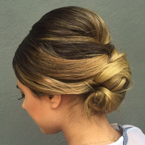 Sleek Chignon With A Bouffant