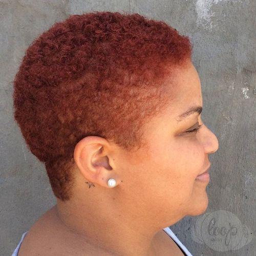 auburn TWA hairstyle