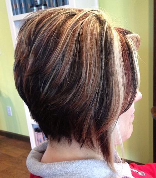 layered tri-color bob