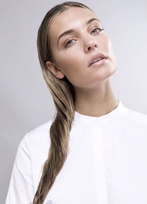 easy wet hairstyle for long hair