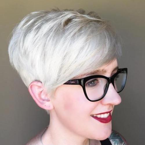 Silver Blonde Pixie
