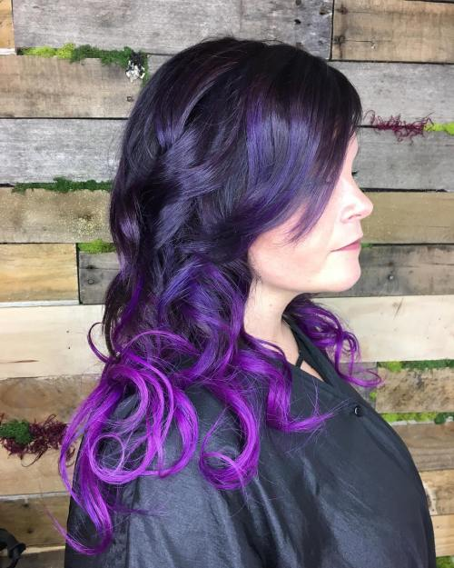Purple Ombre for Brunettes