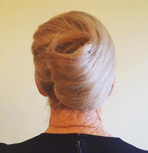 french roll formal updo for older women