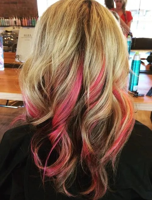 pink peek-a-boo highlights