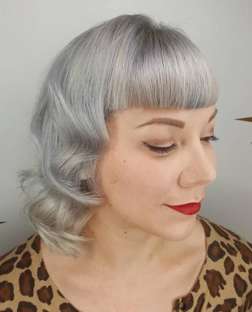 shiny gray hair color