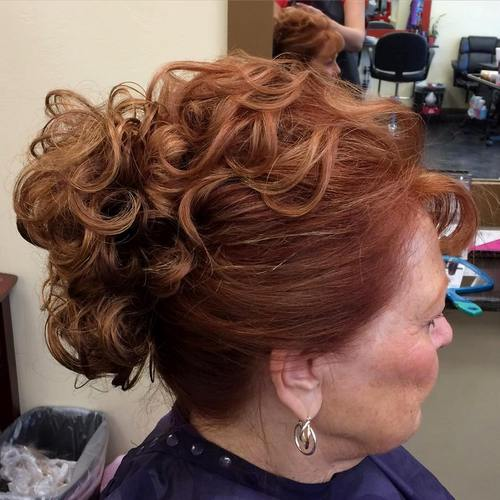 curly updo for older women