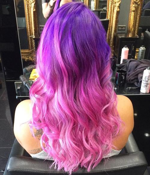 Red Purple Ombre Hair Color Pinterest Of Purple To Red