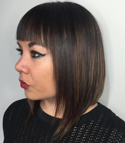 stacked collarbone bob for straight hair