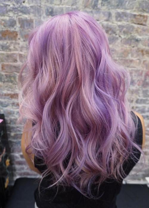 Light purple highlights in brown hair trendy hairstyles in the usa light purple highlights in brown hair pmusecretfo Choice Image