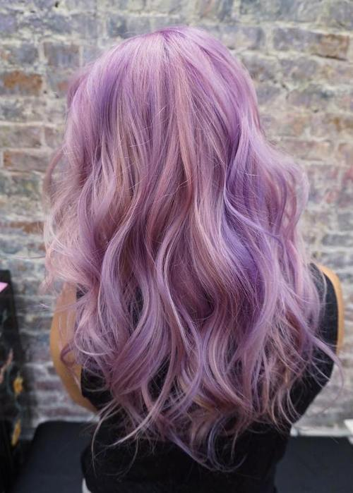 40 Versatile Ideas of Purple Highlights for Blonde, Brown ...