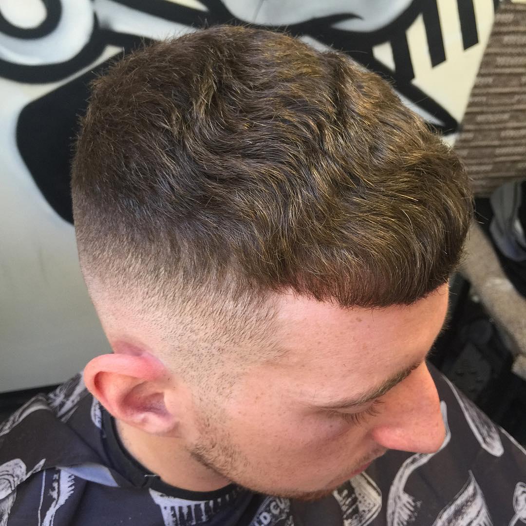 Caesar Haircut for curly hair