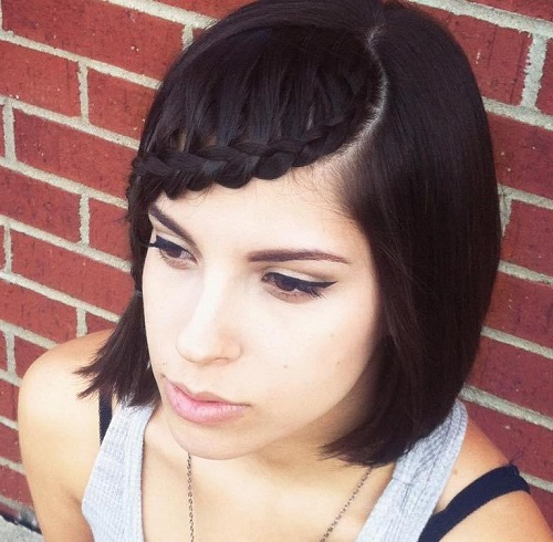 Hair Styles With Bangs: Braids For Short Hair: 20 Newest Ideas