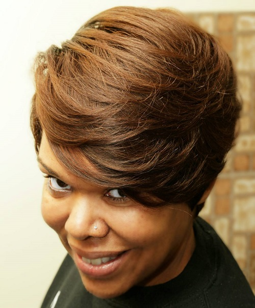 Short Brown Weave Hairstyle