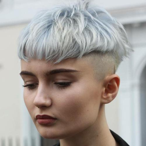 Pastel Blue Bowl Cut With Undershave
