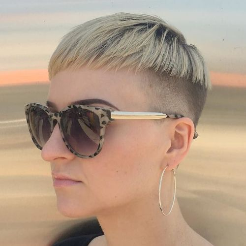 Extra Short Blonde Bowl Cut