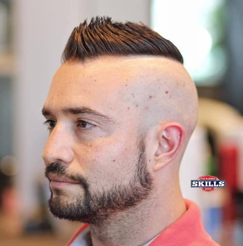 mohawk with shaved sides for receding hairline