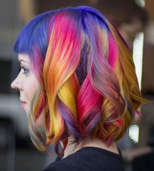 Rainbow Lob With Bangs