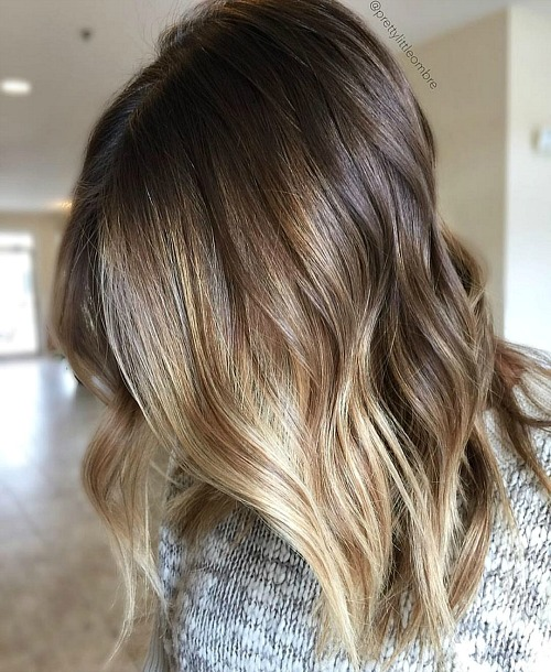 Face-Framing Brown Blonde Balayage