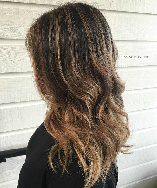 Subtle Ombre For Brunettes