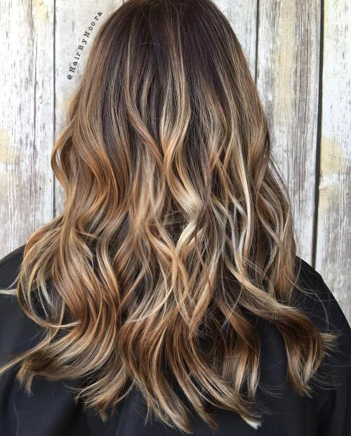 Light Brown Blonde Balayage Highlights