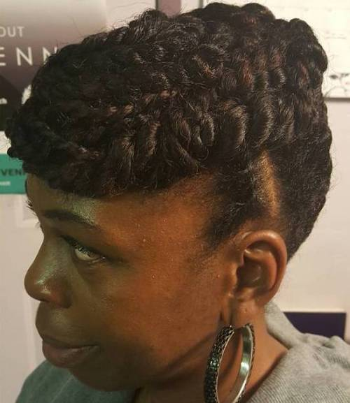 Natural Twisted Updo