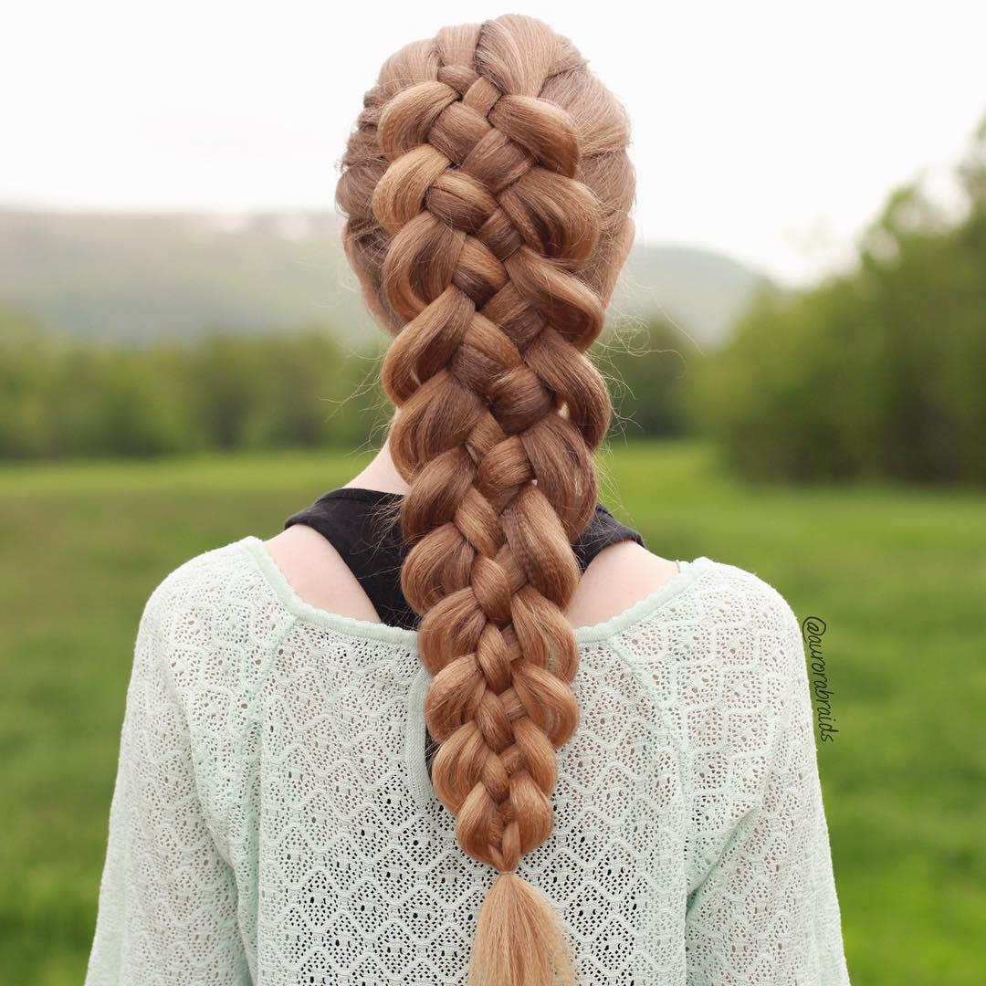 Crimped Hair Strand Braid