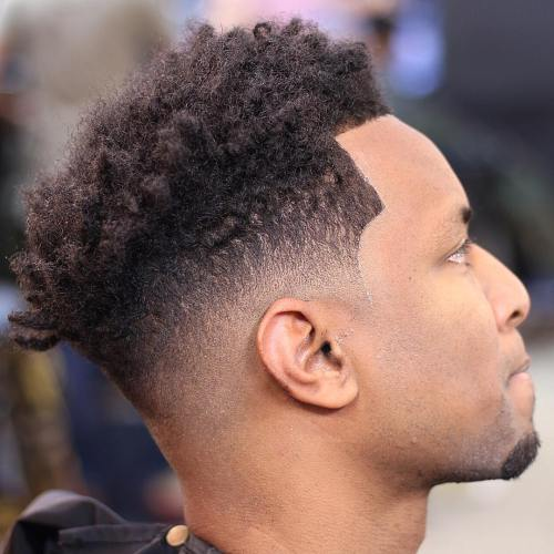 Natural High Top Fade And Line Up