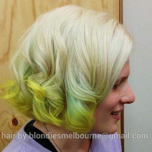 Lime Dip Dye For Blonde Hair