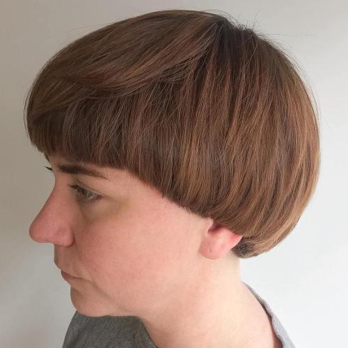Short Brown Pageboy Haircut