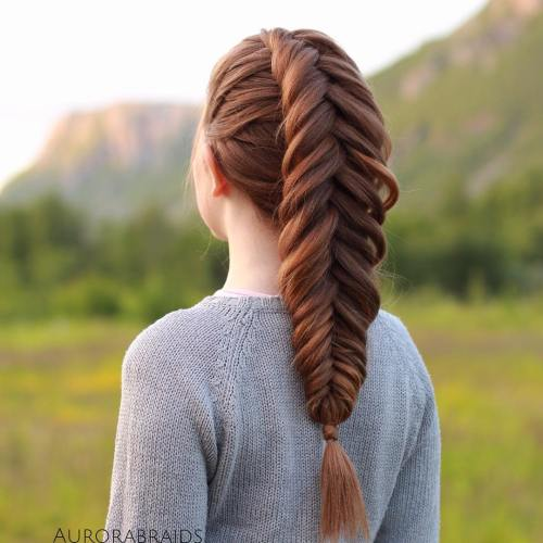 Braided Mohawk With Fishtail Braid